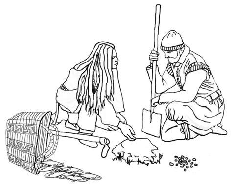 Squanto Thanksgiving Coloring Page Squanto Shows A Squanto Coloring Pages