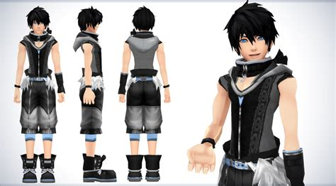 Jaket Style Black Snk Sleeve nipah kingdom hearts mmd oc by nipahmmd on deviantart