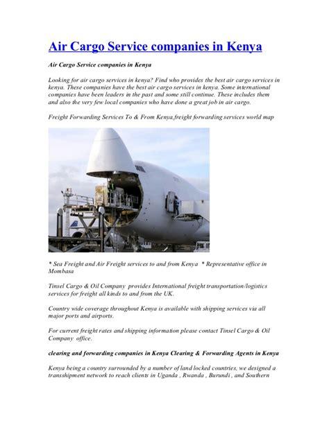 air cargo service companies in kenya