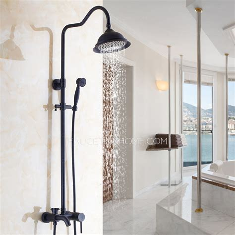 simple brass outside oil rubbed bronze shower faucet system