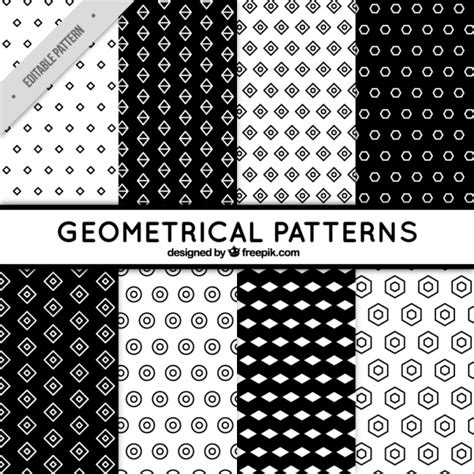 black and white geometric pattern vector free 6 black and white patterns with geometric shapes vector