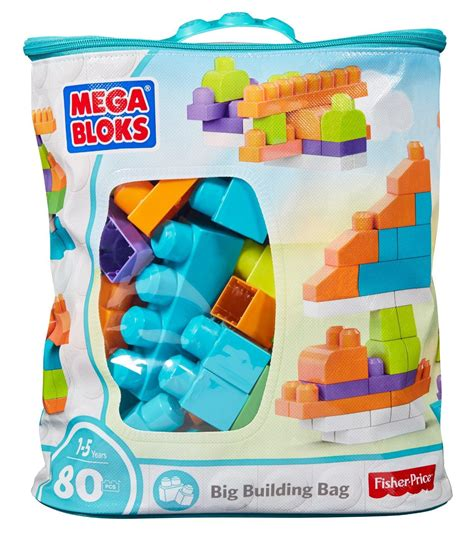mega bloks builders big building table amazon com mega bloks big building bag trendy 80