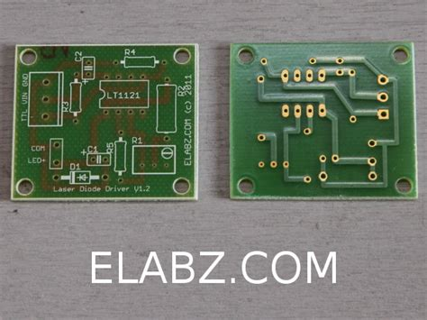 laser diode and driver laser diode driver based on lt1121 voltage regulator schematic and pcb