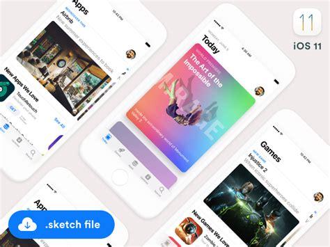 ios  app store ui fluxes freebies