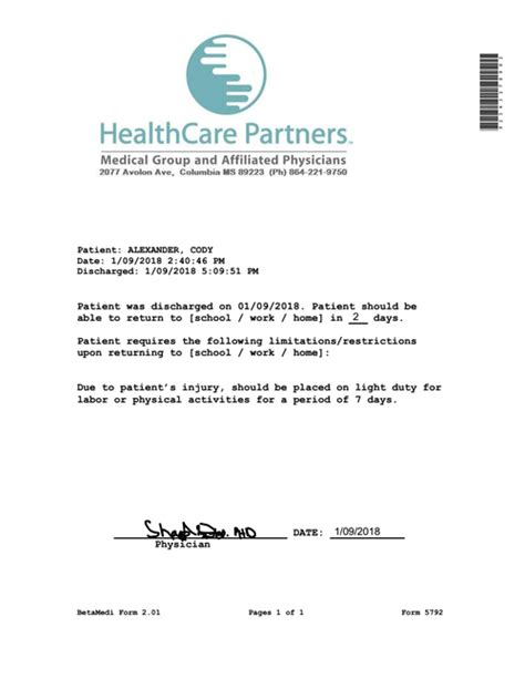 medical certificate sample fit to work refrence fine doctor