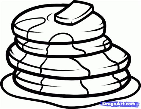 coloring pages of pan cake how to draw pancakes step by step food pop culture