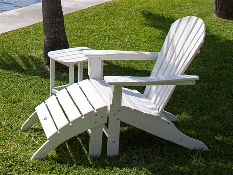 Recycled Plastic Adirondack Chair by Polywood 174 Seashell Recycled Plastic Adirondack Chair Sh22