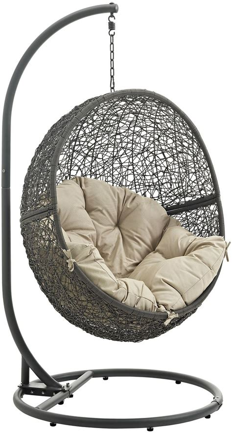 patio swing chair with stand hide gray beige outdoor patio swing chair with stand from