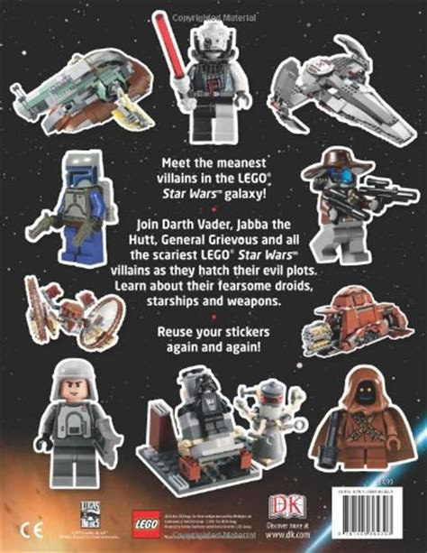 libro ultimate star wars dk libro lego 174 star wars villains ultimate sticker book di dk