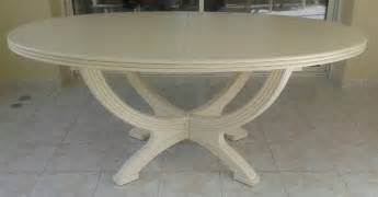 table manao ovale avec allonge plateau frene tables rotin