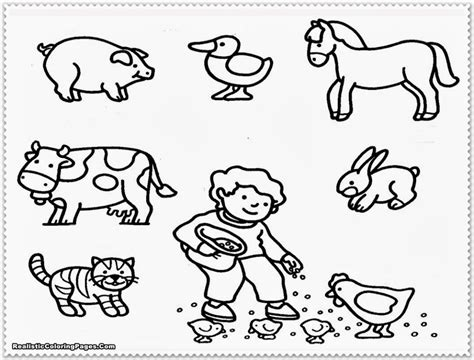 baby farm animals coloring pages free coloring pages kids