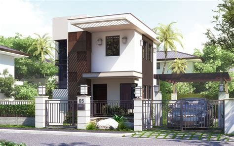 modern two storey house designs philippines pinoy house design 201512 is a small house design in a two storey layout with a floor