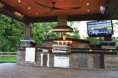 outdoor kitchen images stylish pavillion landscaping