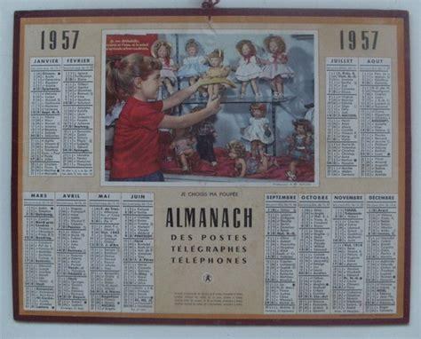 Calendrier De 1957 Almanach Des Ptt Calendriers Vintages