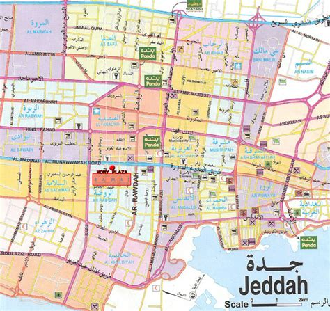 printable jeddah road map jeddah city map jeddah saudi arabia mappery