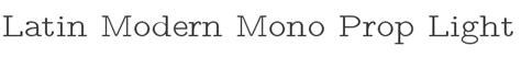 latin modern mono prop light font  gust  foundry