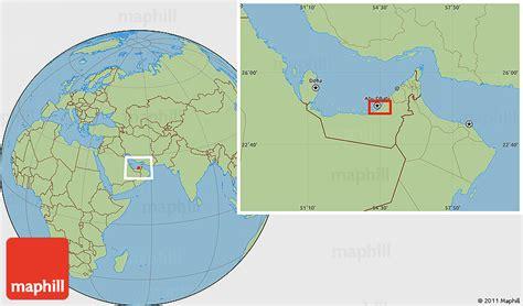 world map abu dhabi savanna style location map of abu dhabi