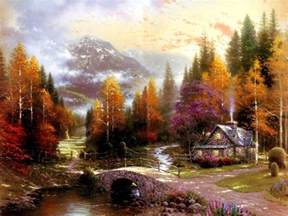 Color Palettes For Home Interior Groups Artist Of Nature Conversations Thomas Kinkade