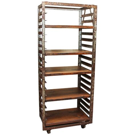 Industrial Bakers Rack by 1940s Industrial Age Laquered Steel Baker S Quot Speed Rack