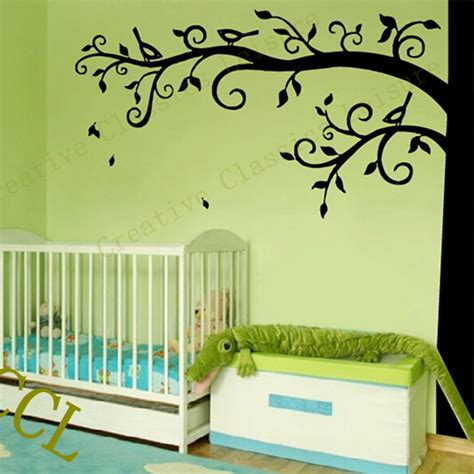 Large Nursery Wall Decals Corner Tree Wall Decal Nursery Wall Decoration Large Tree Wall Sticker Photo Hanging