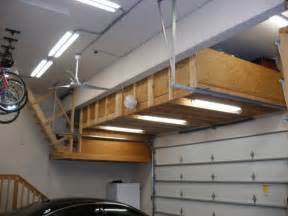 impressing wood garage overhead storage diy with bycicles