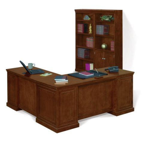 L Shaped Desk With Bookcase Statesman Executive L Shaped Desk Bookcase Set Officefurniture