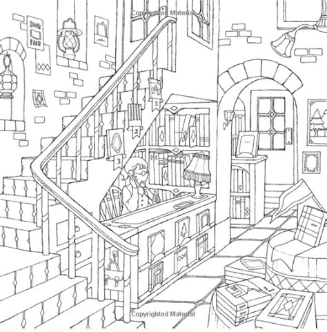 small town coloring coloring pages
