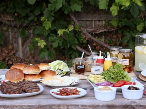 Backyard Burger Bar by Build Your Own Burger Bar Completely Delicious