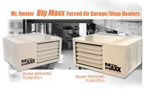 How Big Of A Garage Heater Do I Need by Mr Heater Big Maxx Forced Air Garage Heater