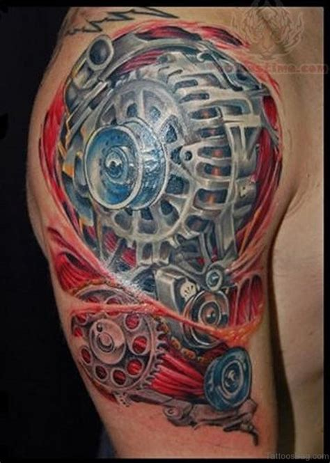 mechanic tattoos 92 innovative bio mechanical tattoos on shoulder