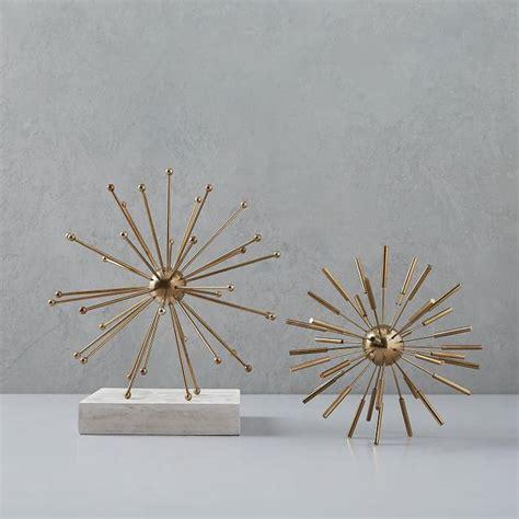 decorative objects gold metal sputnik decorative objects