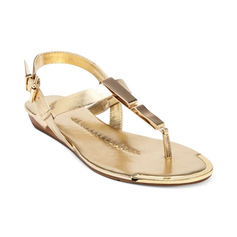 dv dolce vita sandals dolce vita dv by abley flat sandals in gold lyst