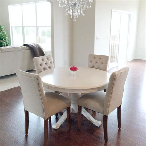 white fabric dining room chairs best 25 table and chairs ideas on