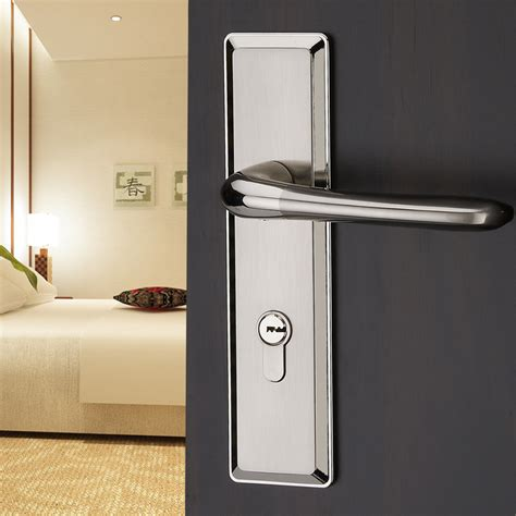 deadbolt on bedroom door modern simple entry door indoor double tongue locks lock