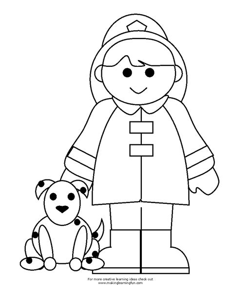 firefighter coloring page free fireman clipart coloring pages
