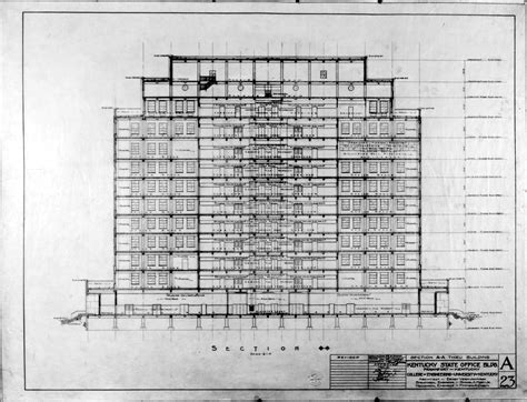 section of a building kentucky state office building section plans frankfort