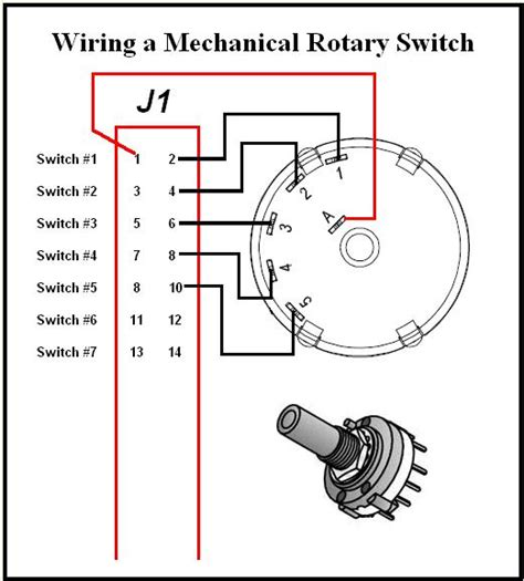 rotary switch schematic how should i use rotary switches
