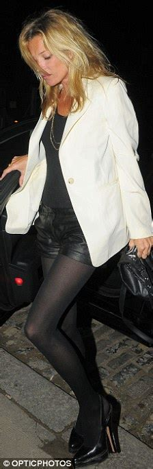 Kate Moss Arrives Home To Continue 34 Hour Marathon Birthday by Kate Moss Goes Hell For Leather In Tiny Hotpants As She