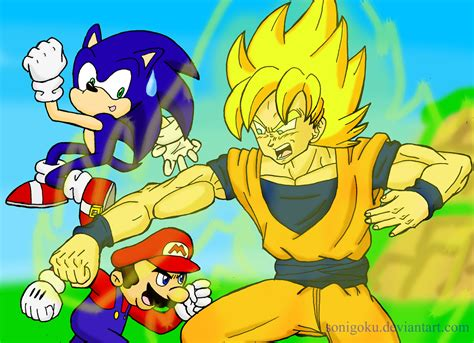 rileyferguson images Mario vs Sonic vs Goku HD wallpaper