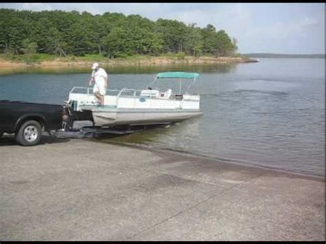 pontoon boat trailer hitch how to load a pontoon boat onto a trailer in less than 2