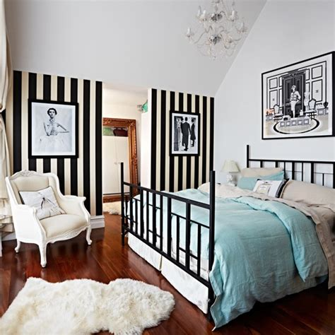 white and pink striped wall contemporary bedroom bedroom with black and white striped wallpaper modern