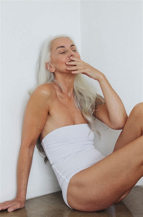 pictures of 60 year old hairy women this 60 year old model is in the latest swimwear caign