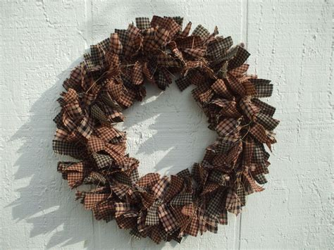 fabric crafts primitive primitive fabric americana country primitive rag wreath