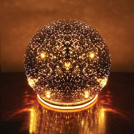 lighted mercury glass sphere at signals hr3416