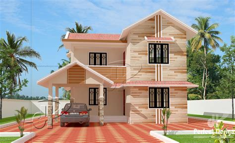double storied house 13 lakhs kerala home design and kerala home double floor plans
