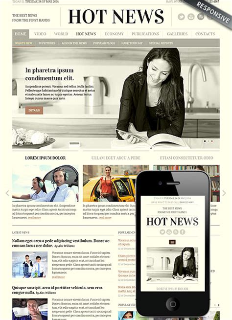 bootstrap templates for news portal newspaper bootstrap template id 300111817