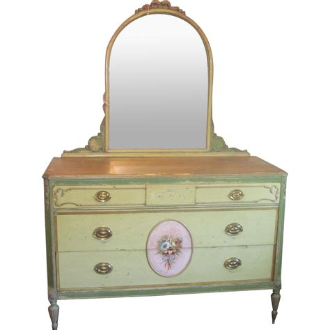 vintage hand painted chest of drawers vintage french style dresser chest of drawers hand painted
