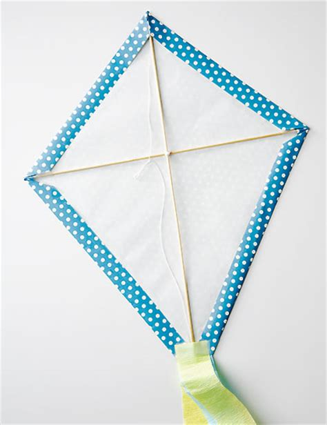 How To Make A Kite With Paper And Straws - how to make a wrapping paper kite canadian living