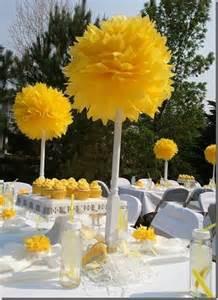 yellow baby shower decorations 17 best ideas about yellow baby showers on yellow daisies baby shower ideas