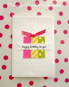 handmade card washi birthday card